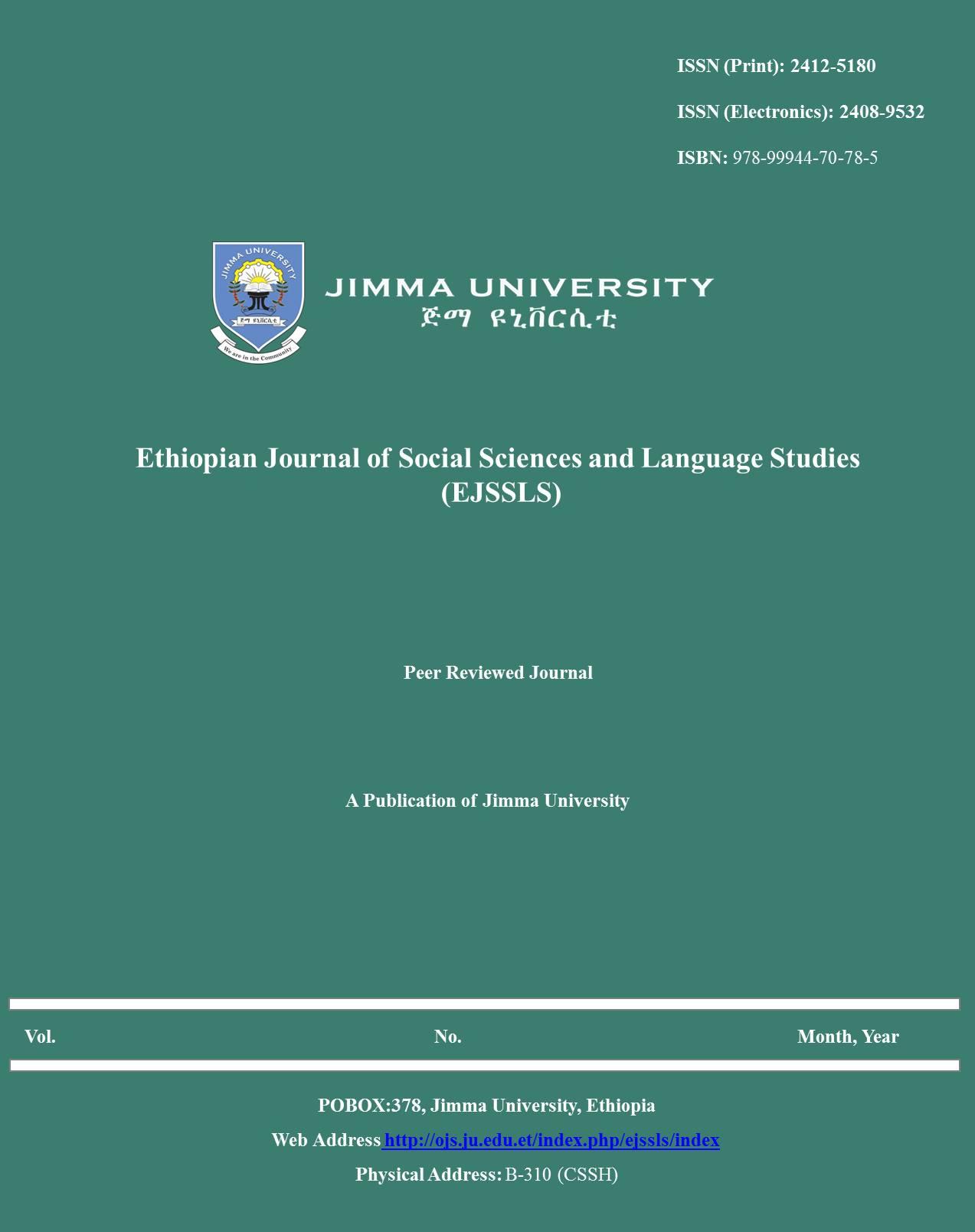 Ethiopian Journal of Social Sciences and Language Studies